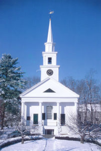 Church in Winter before addition