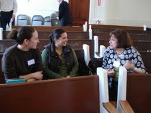 Visitors to the Unitarian Church of Sharon